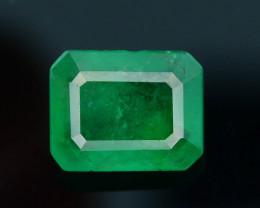 Top Quality 1.35 ct Zambian Emerald Vivid Green Color