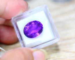 9.66ct Natural Purple Amethyst Oval Cut Lot B3930