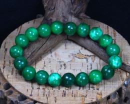142Ct 10mm Natural Nephrite Jade Beads Bracelet A0252