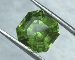 6.65 carats,  Natural  Rutile Peridot.