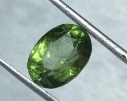 6.60 carats, Natural Rutile Peridot.