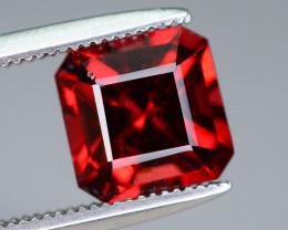 Orangish Pink 2.30 ct Asscher Cut Red Garnet Ring Size