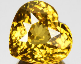 7.09 Cts Lustrous Natural Golden Zircon Cute Heart Tanzania