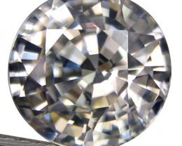 1.74Cts Amazing Natural Unheated White Zircon 6.4mm Round Shape Loose Gem