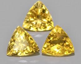 2.60 Cts - Sparkling Luster - triilon Gem - Natural Fine Yellow~Beryl!!