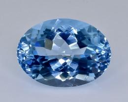 11.22 Crt Natural Topaz Faceted Gemstone.( AB 32)