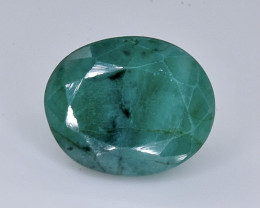 7.14 Crt Natural Emerald Faceted Gemstone.( AB 32)