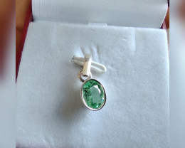 Colombian emerald sterling silver pendant from Muzo 2.00 cts