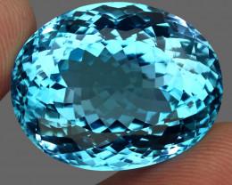 63.22  ct. 100% Natural Swiss Blue Topaz Top Quality Gemstone Brazil