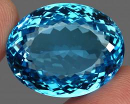 62.06  ct. 100% Natural Swiss Blue Topaz Top Quality Gemstone Brazil