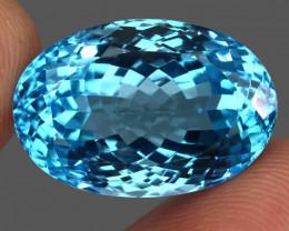 43.15  ct. 100% Natural Swiss Blue Topaz Top Quality Gemstone Brazil