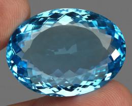 76.10  ct. 100% Natural Swiss Blue Topaz Top Quality Gemstone Brazil