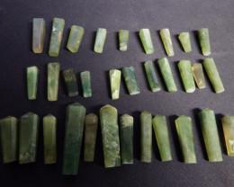 721.45 carats 32 pcs Green hydrogrossular Garnet Polished Pendants