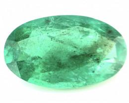 ~No Reserve~2.40(ct) No Oil Oval Cut Emerald Faceted Gem
