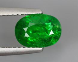 1.87 Cts Tsavorite Oval Chrome Green Garnet 100% Natural Unheated