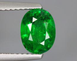 1.760 Cts Tsavorite Oval Chrome Green Garnet 100% Natural Unheated