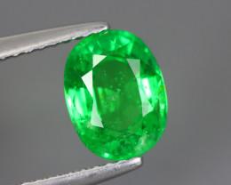 1.960 Cts Tsavorite Oval Chrome Green Garnet 100% Natural Unheated