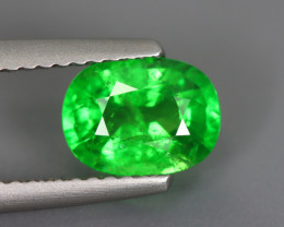 1.605 Cts Tsavorite Oval Chrome Green Garnet 100% Natural Unheated