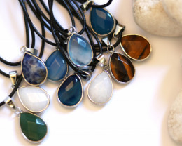Wholesale 10 pcs popular Faceted Gemstone Pendants AHA 804