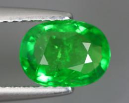 1.455 Cts Tsavorite Oval Chrome Green Garnet 100% Natural Unheated