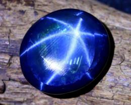 Blue Star Sapphire 15.12Ct Natural 6 Rays Blue Star Sapphire B0310