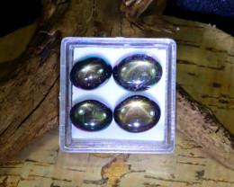 Star Sapphire 20.20Ct Natural Thailand Golden Black Star Sapphire Lot B0346