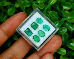 Zambian Emerald 3.81Ct 6Pcs Natural Green Color Emerald Box B0347