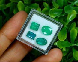 Zambian Emerald 5.05Ct 4Pcs Natural Green Color Emerald B0319