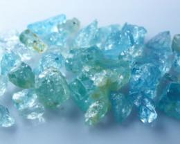 72 CTs Natural & Unheated~ Blue Aquamarine Rough Lot
