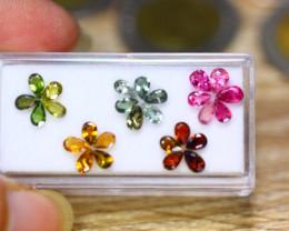 4.75ct Natural Mozambique Fancy Color Tourmaline Pear Cut Lot GW8844