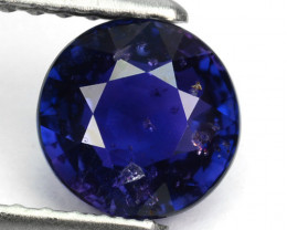 1.34 Cts Natural Lovely Top Blue Sapphire Round Cut Sri Lanka