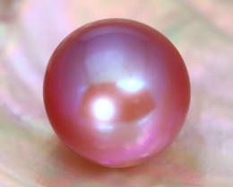 11.8mm 11.65Ct Natural Tahitian Purple Black Pearl C0417