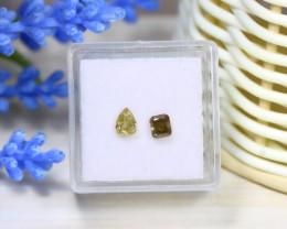 Yellow Diamond 0.70Ct 2Pcs Untreated Genuine Fancy Diamond C0419