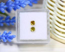 Yellow Diamond 0.59Ct 2Pcs Untreated Genuine Fancy Diamond C0425