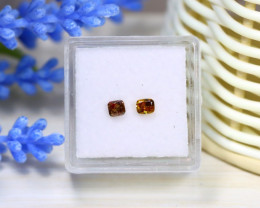 Orange Diamond 0.46Ct 2Pcs Untreated Genuine Fancy Diamond C0431