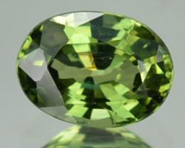 UNHEATED 0.90 Cts Natural Corundum Green Sapphire Oval Africa