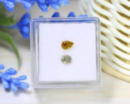 Diamond 0.57Ct 2Pcs Natural Untreated Genuine Fancy Diamond C0441