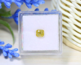 Yellow Diamond 0.75Ct Natural Untreated Genuine Fancy Diamond C0446