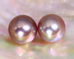 7.4mm 6.00Ct Natural Tahitian Purple Black Pearl C0460
