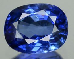 0.91 Cts Natural Corundum Blue Sapphire Cushion Srilanka