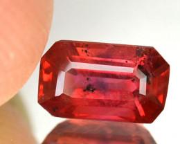 1.12 Cts Natural Corundum Red Sapphire Emerald Cut