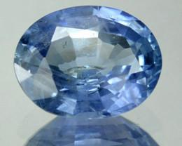 1.56 Cts Natural Corundum Blue Sapphire Oval Africa
