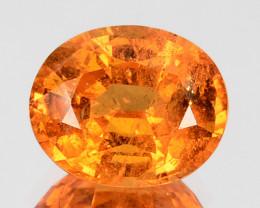 2.61 Cts Natural Fanta Orange Spessartite Garnet Oval Namibia