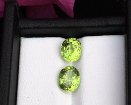 Top Grade 3.60ct lovely Peridot Pair Ear Ring Size