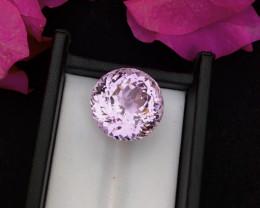 Rare Top Grade 29.75 ct lovely Pink Kunzite Ring Size