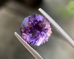Natural Amethyst 4.57 Cts  Excellent Fancy Cut Gemstone