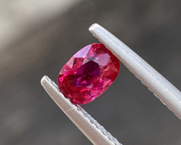 Natural Ruby 0.76 Cts Red Color Gemstone