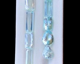 25.15 Carats Natural Aquamarine Gemstones Lot