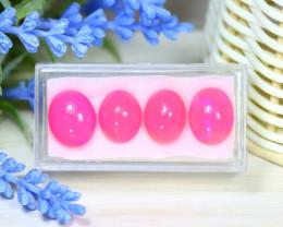 Welo Pink Opal 14.93Ct 4Pcs Natural Ethiopian Pink Color Opal A0525