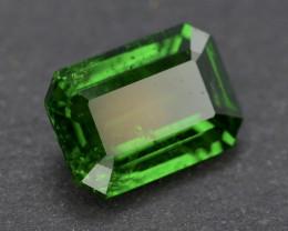 Emerald Cut 1.45Ct Natural Tsaverite Garnet Garnet